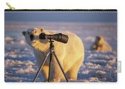 Polar Bear Investigating Photographers Carry-all Pouch