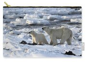 Polar Bear Mother And Cub Sniffing The Air Carry-all Pouch
