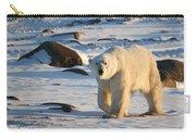 Polar Bear On The Tundra Carry-all Pouch