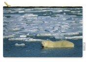 Polar Bear Wading Along Ice Floe Carry-all Pouch