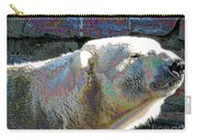 Polar Bear With Enameled Effect Carry-all Pouch