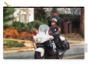 Police - Motorcycle Cop On Patrol Carry-all Pouch