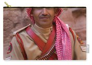 Policeman In Petra Jordan Carry-all Pouch by David Smith