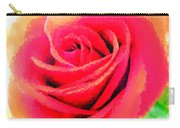 Polka Dot Beautiful Rose Carry-all Pouch