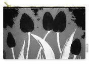 Polka Dot Black Tulips Carry-all Pouch