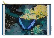 Polka Dot Butterfly Blue Carry-all Pouch