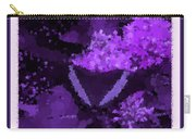 Polka Dot Butterfly Purple Carry-all Pouch