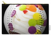 Polka Dot Cupcake Baseball Square Carry-all Pouch