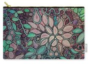 Polka Dot Flowers Carry-all Pouch