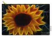 Polka Dot Glowing Sunflower Carry-all Pouch