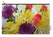 Polka Dot Mums And Carnations Carry-all Pouch