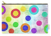 Polka Dot Panorama - Rainbow - Circles - Shapes Carry-all Pouch by Andee Design