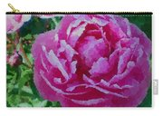Polka Dot Pink Peony Carry-all Pouch