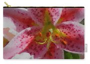 Polka Dot Pink Stargazer Lily Carry-all Pouch