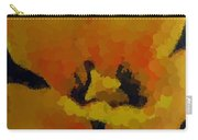 Polka Dot Yellow Blooming Tulip Carry-all Pouch
