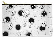 Polka Dots And Water Drops Carry-all Pouch
