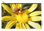 Pollen-laden Bee On Yellow Daisy Carry-all Pouch