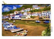 Polperro At Low Tide Carry-all Pouch by David Smith