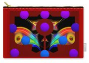 Polychrome Red Kimono Carry-all Pouch