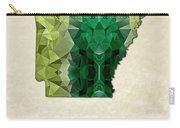 Polygon Mosaic Parchment Map Arkansas Carry-all Pouch