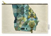 Polygon Mosaic Parchment Map Georgia Carry-all Pouch