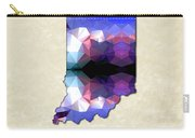 Polygon Mosaic Parchment Map Indiana Carry-all Pouch