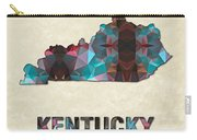 Polygon Mosaic Parchment Map Kentucky Carry-all Pouch