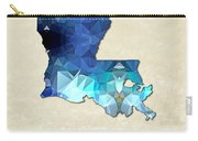 Polygon Mosaic Parchment Map Louisiana Carry-all Pouch