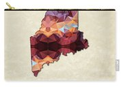 Polygon Mosaic Parchment Map Maine Carry-all Pouch