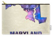 Polygon Mosaic Parchment Map Maryland Carry-all Pouch