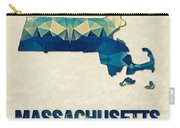 Polygon Mosaic Parchment Map Massachusetts Carry-all Pouch