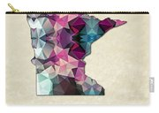 Polygon Mosaic Parchment Map Minnesota Carry-all Pouch