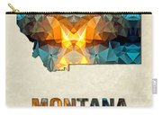 Polygon Mosaic Parchment Map Montana Carry-all Pouch