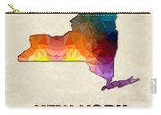 Polygon Mosaic Parchment Map New York Carry-all Pouch