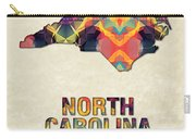Polygon Mosaic Parchment Map North Carolina Carry-all Pouch
