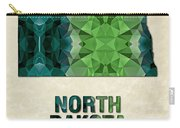 Polygon Mosaic Parchment Map North Dakota Carry-all Pouch