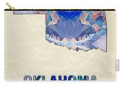 Polygon Mosaic Parchment Map Oklahoma Carry-all Pouch