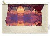 Polygon Mosaic Parchment Map Oregon Carry-all Pouch