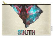 Polygon Mosaic Parchment Map South Carolina Carry-all Pouch