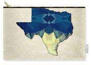 Polygon Mosaic Parchment Map Texas Carry-all Pouch