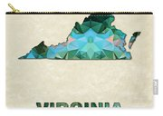 Polygon Mosaic Parchment Map Virginia Carry-all Pouch