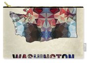 Polygon Mosaic Parchment Map Washington Carry-all Pouch
