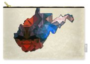 Polygon Mosaic Parchment Map West Virginia Carry-all Pouch