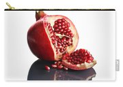 Pomegranate Opened Up On Reflective Surface Carry-all Pouch by Johan Swanepoel