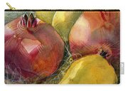 Pomegranates And Pears Carry-all Pouch by Jen Norton