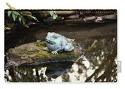 Pond Frog Statuette Carry-all Pouch