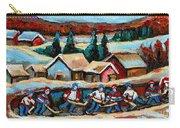 Pond Hockey 2 Carry-all Pouch by Carole Spandau
