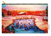 Pond Hockey Game By Montreal Hockey Artist Carole Spandau Carry-all Pouch