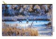 Pond Hockey - Painterly Carry-all Pouch