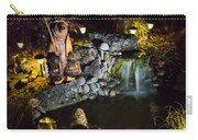 Pond Waterfall And Chuck The Bear Carry-all Pouch